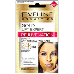Eveline Gold Lift Expert Luxury Anti-Wrinkle Face Mask 24K Gold
