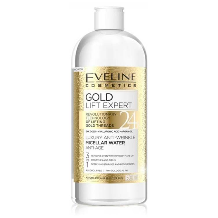 Eveline Gold Lift Expert Luxury Anti-Wrinkle Micellar Water 500ml