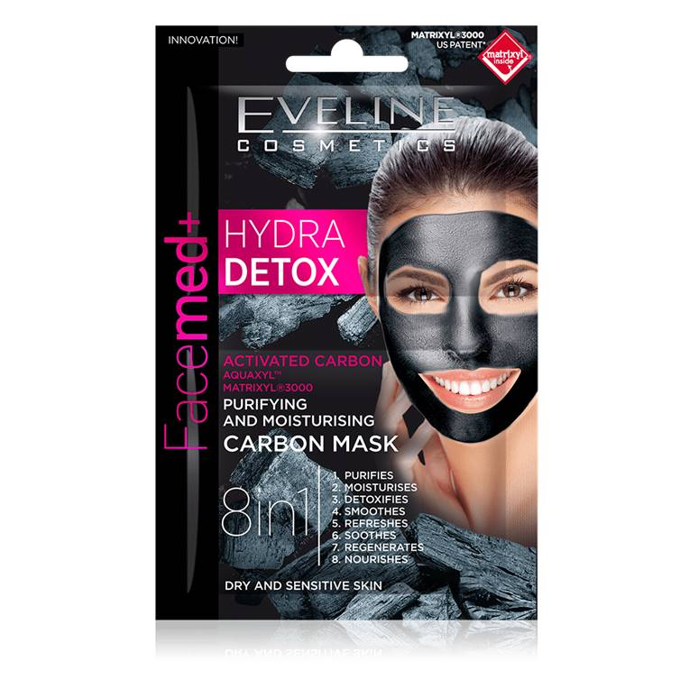 Eveline Hydra Detox Purifying And Moisturizing Carbon Mask