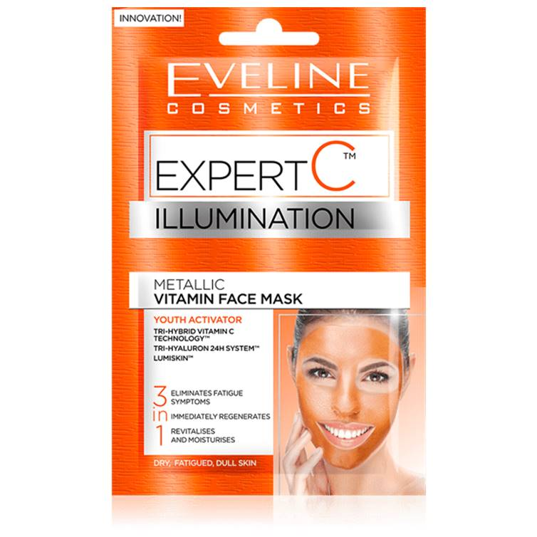 Eveline Illumination Metallic Vitamin Face Mask NEW