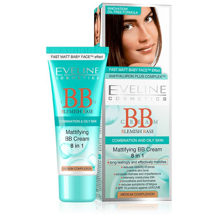 Eveline Mattifying 8 in 1 BB Cream Light 40ml