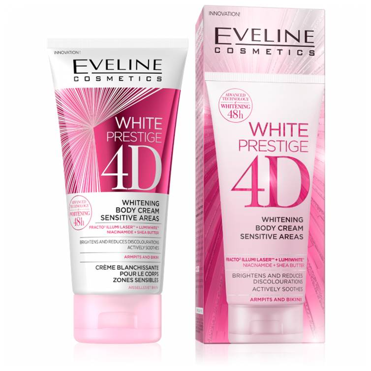 Eveline White Prestige 4D Body Cream Sensitive Areas 100ml