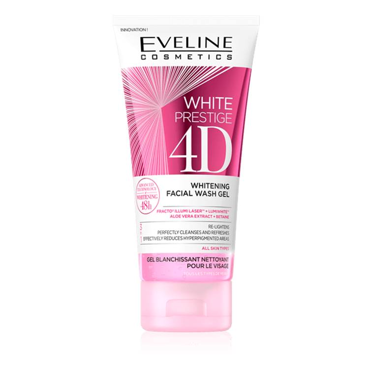 Eveline White Prestige 4D Whitening Facial Wash Gel 100ml