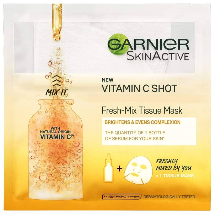 Garnier Skin Active Fresh-Mix Face Sheet Shot Mask With Vitamin C