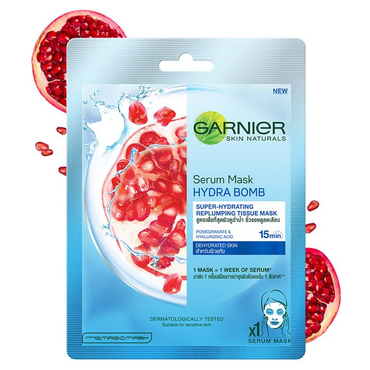 Garnier Skin Naturals Hydra Bomb, Face Serum Sheet Mask