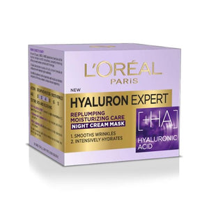 L'Oreal Hyaluron Expert Replumping Moisturizing Care Night Cream Mask 50ml