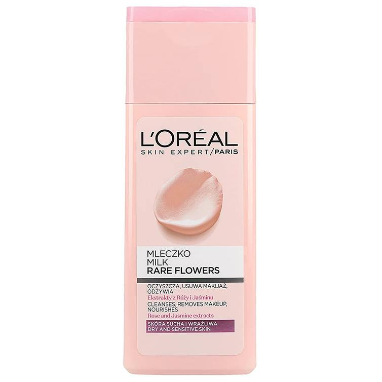 L'Oreal Rare Flower Cleansing Milk Dry And Sensitive Skin 200ml