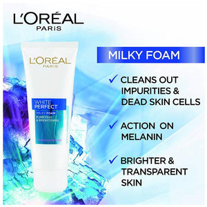 L'Oreal Paris White Perfect Milky Foam Face wash