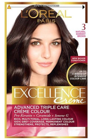 L'Oreal excellence dark chestnut brown 3