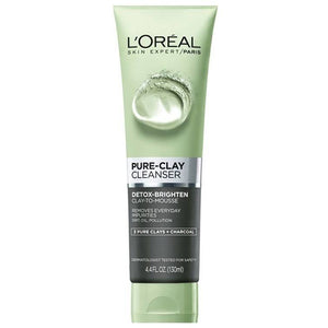 Loréal Pure Clay Charcoal Detoxifying Face Wash Black 150ml