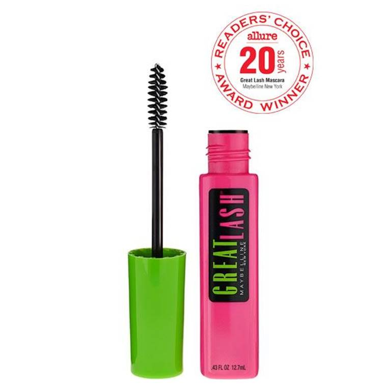 Maybelline Great Lash Washable Mascara Blackest Black