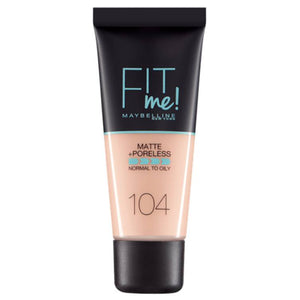 Maybelline Fit Me Matte & Poreless Foundation Soft Ivory 104