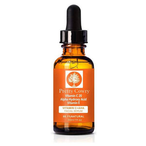 Pretty Cowry Vitamin C + AHA Facial Serum
