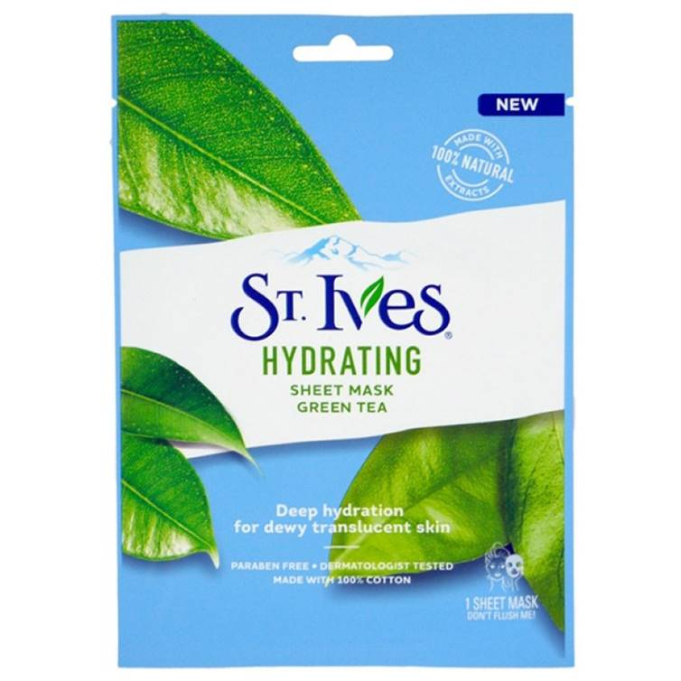 St. Ives Hydrating Green Tea Sheet Mask (Imported)