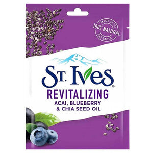 St. Ives Revitalizing Acai, Blueberry & Chia Seed Oil Sheet Mask (Imported)