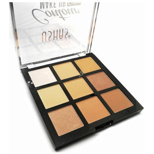USHAS Contour & Highlighter 9 Color Palette