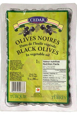 Black Olives in vegetables Oil - CEDAR - Goffa - Fresh to your door!