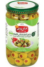 Green Olives Stuffed In Pepper - Al Ahlam - Goffa - Fresh to your door!