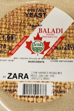 Zara Instant Yeast - BALADI - Goffa - Fresh to your door!