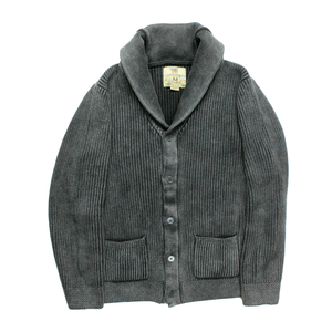 Charcoal Shawl Collar Cardigan