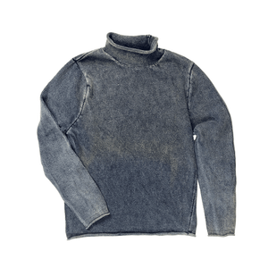 100% Cotton Pigment Dyed Rollneck Sweater