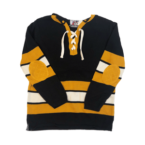 Black & Gold Stripe Hockey Sweater
