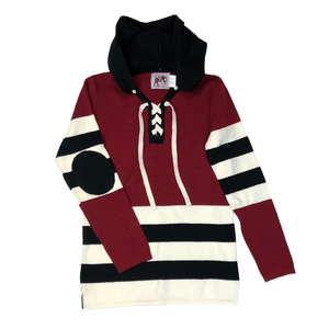 Red Black Stripe Hockey Sweater