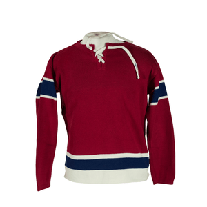 Red and Navy Stripe Hockey Sweater by T Dalton Clothing