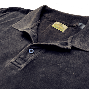100% Cotton Navy Stone Washed Polo