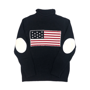 Navy USA Flag Rollneck Sweater