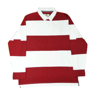 100% Cotton Red Stripe Rugby Shirt