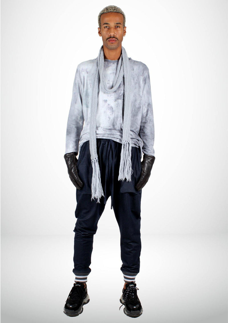 Casual Oversized Gray Shirt - Men - African Collection