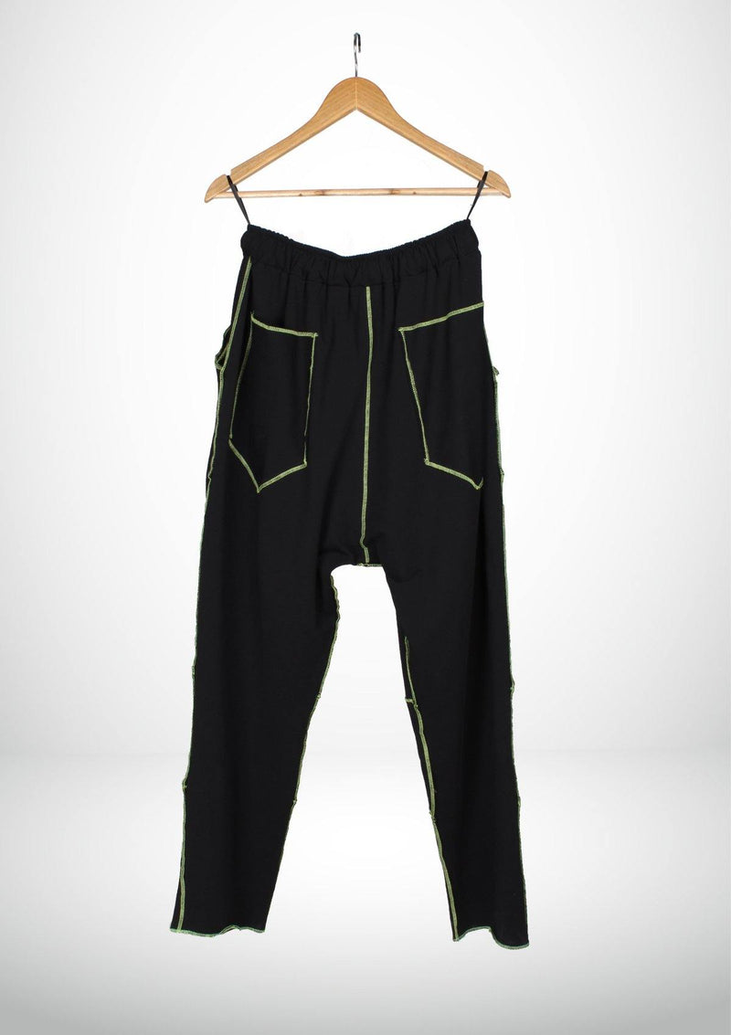 Casual Streetwear Black Pants - African Collection