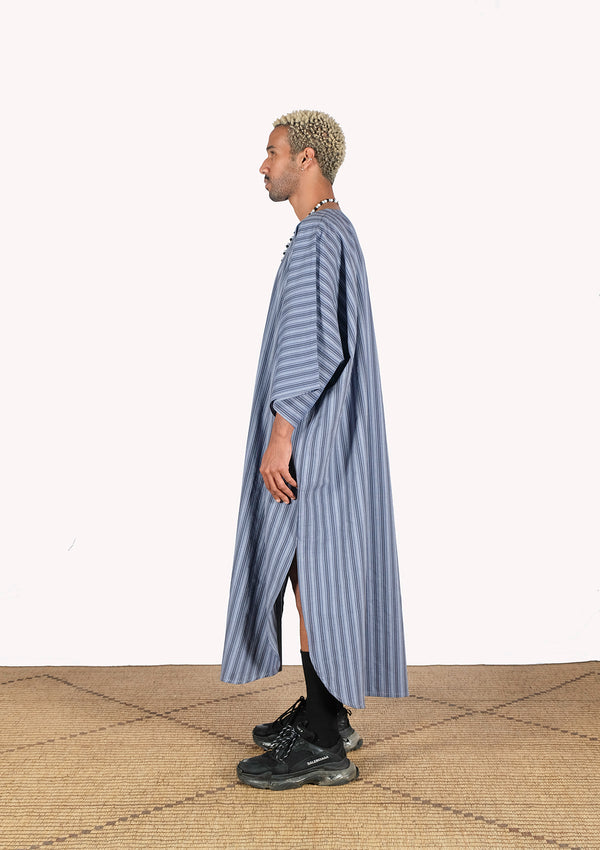 Striped Cotton Gandoura - African Collection