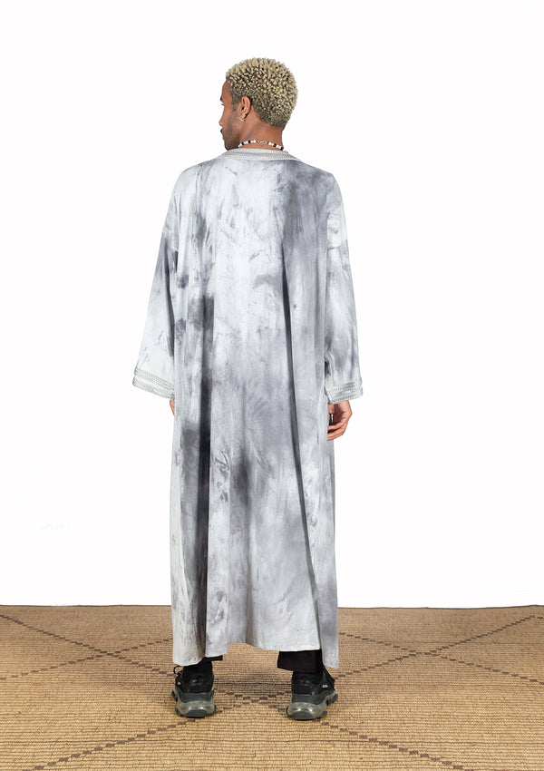 Kimono with sfifa tie & dye design. - African Collection