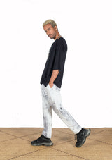 Grey delaved Tie & dye Cotton Pants - African Collection