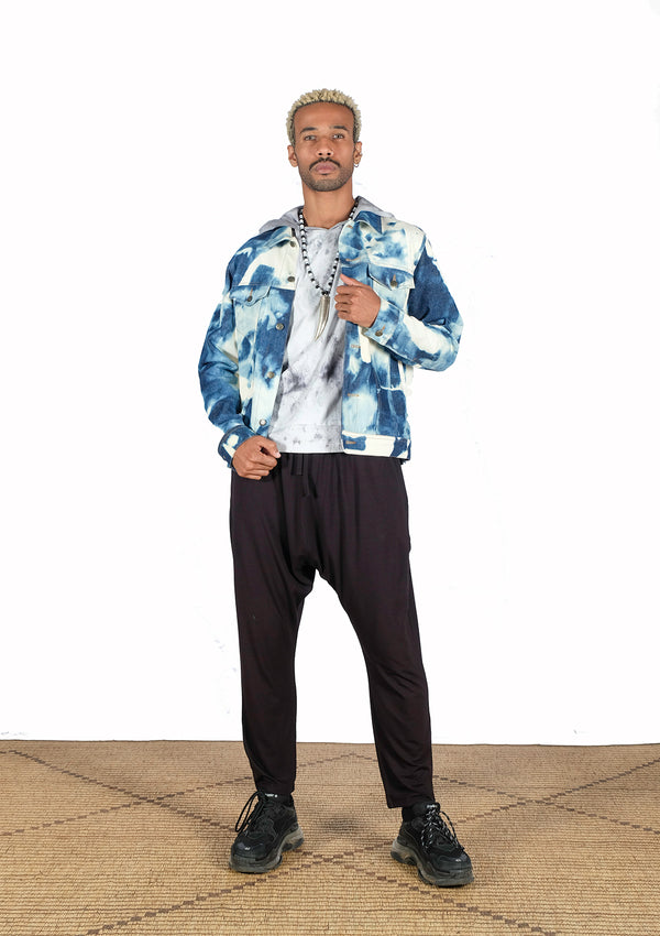 Jacket Jean tie & dye - African Collection