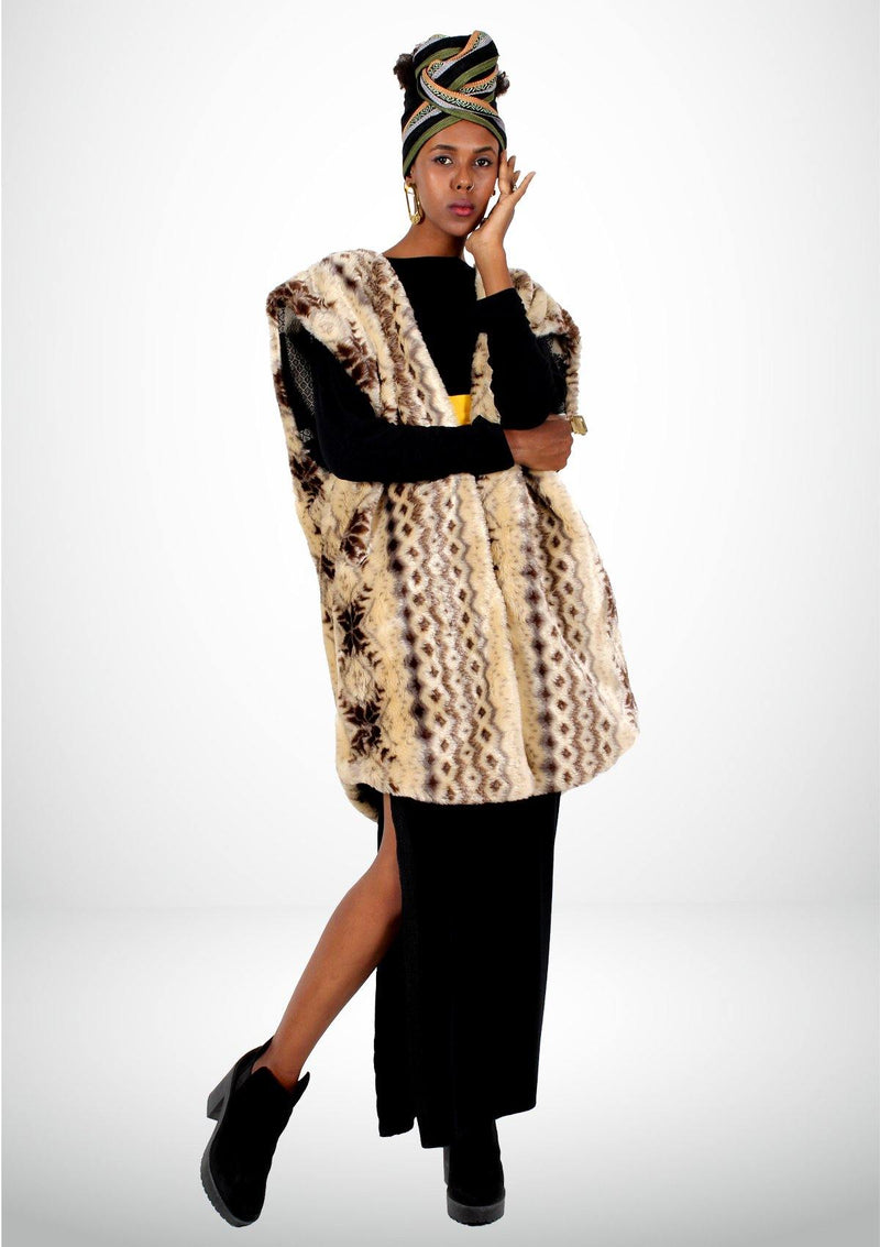 Double Sided Fur Coat - Africancollection