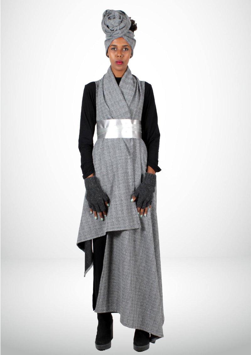 Long Gray Jacket - Africancollection