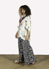 Printed Viscose Wide Leg Pants - African Collection