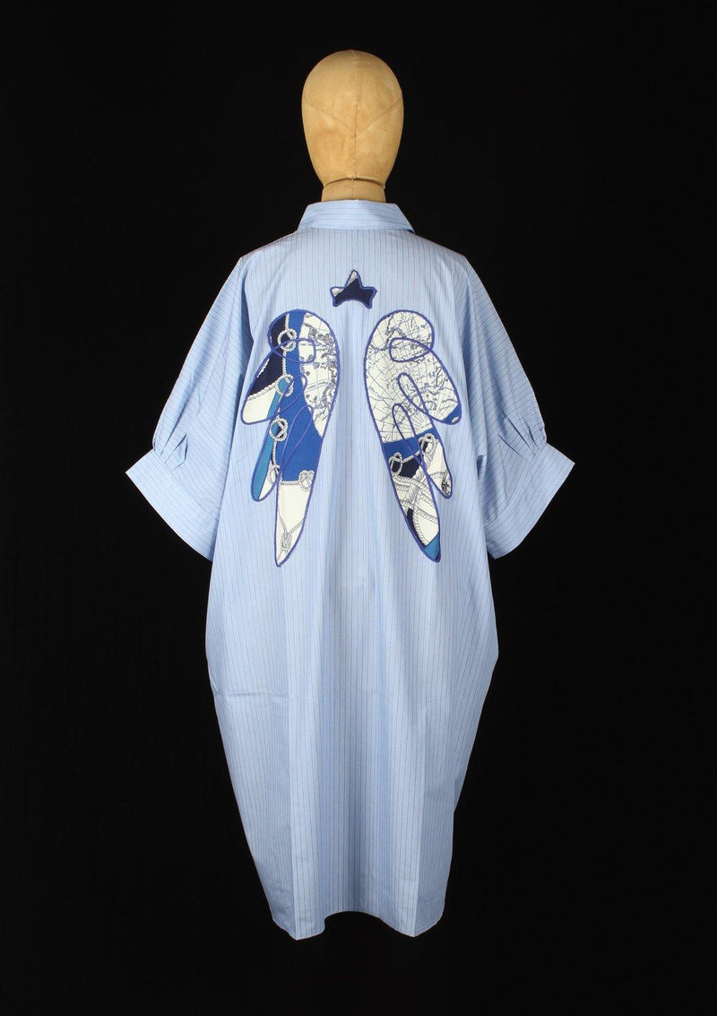 Oversized Tunic with Angel Wings - Africancollection