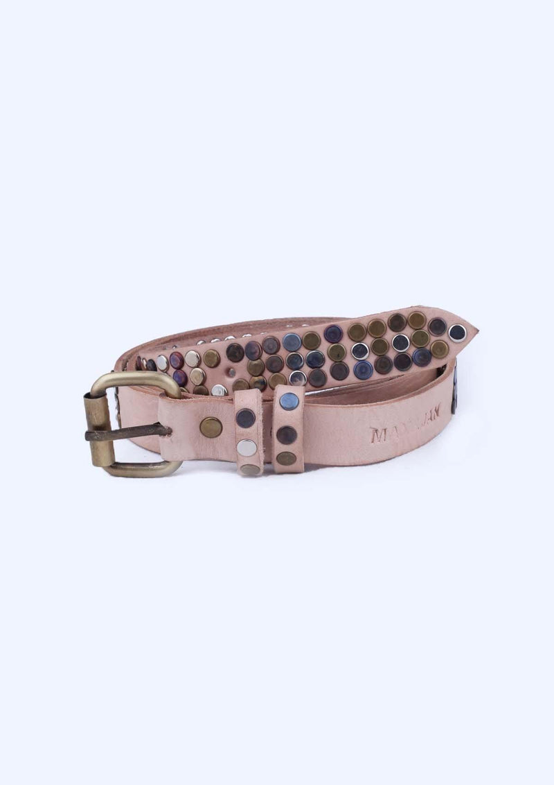 Studded Leather Belt - African Collection