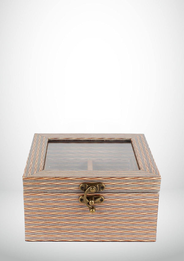Wooden WatchBox - 4 Slots - Vintage - Africancollection