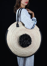 Circular Straw Bag - African Collection