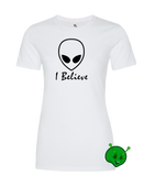 I Believe in Aliens Ladies Premium T-Shirt