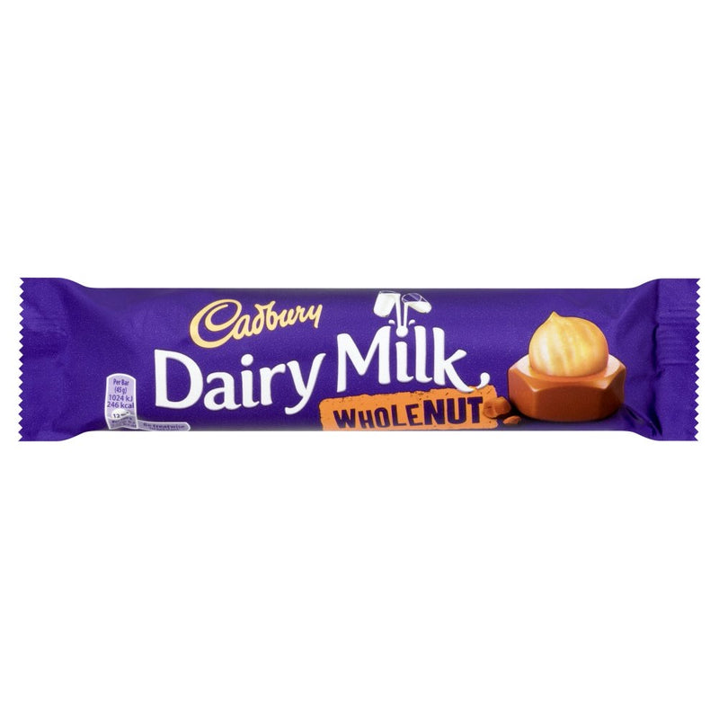 Cadbury Dairy Milk Whole Nut Chocolate Bar 45g