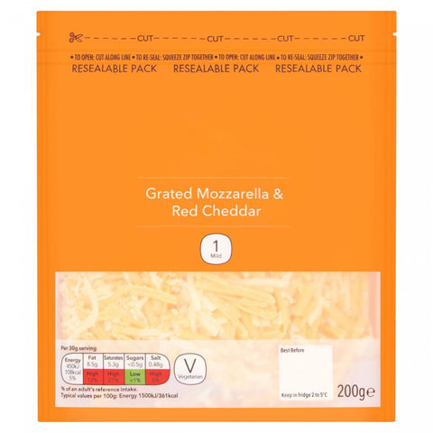 Grated Mozzarella & Cheese Mix 200G