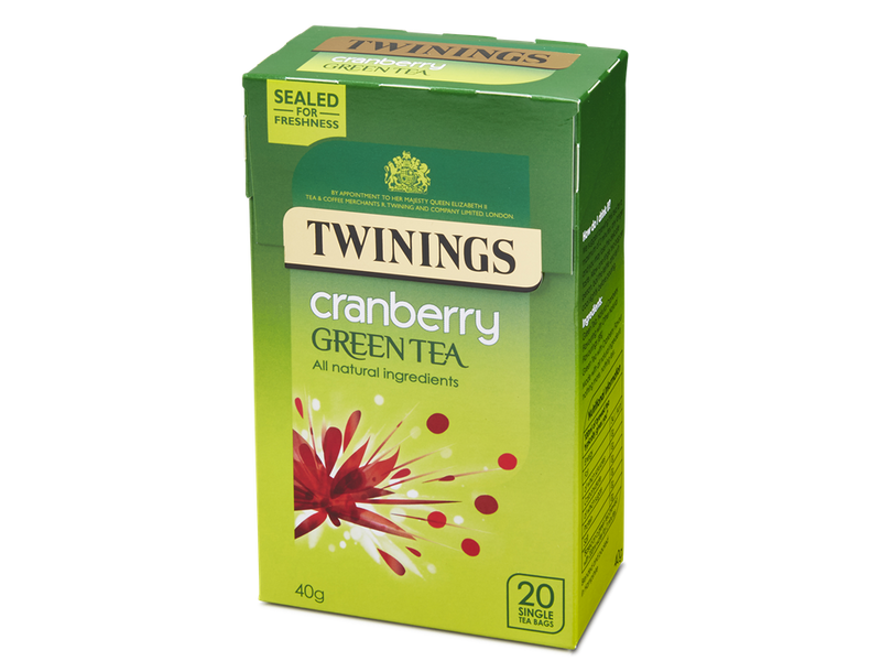 Twinings Cranberry Green Tea 40G
