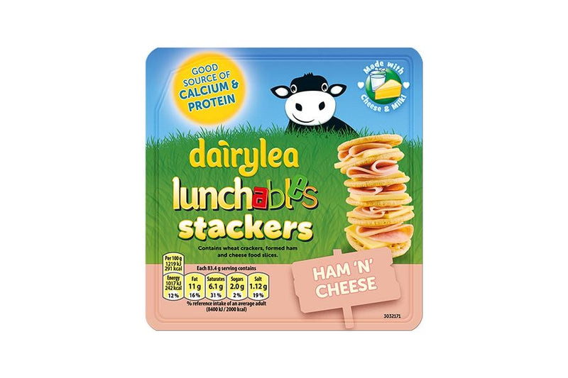 Dairylea Lunchables Ham & Cheese Crackers 83.4G
