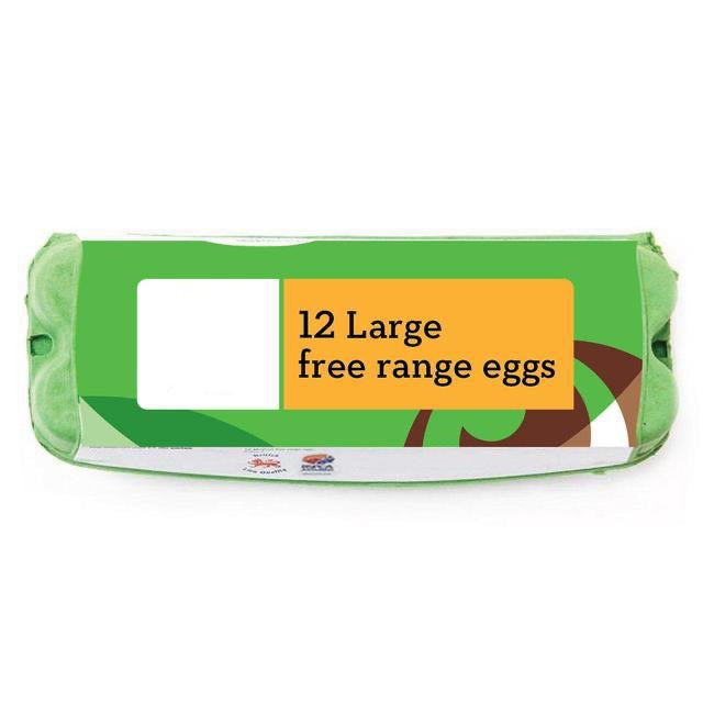 Large Free Range Eggs 12 Pack